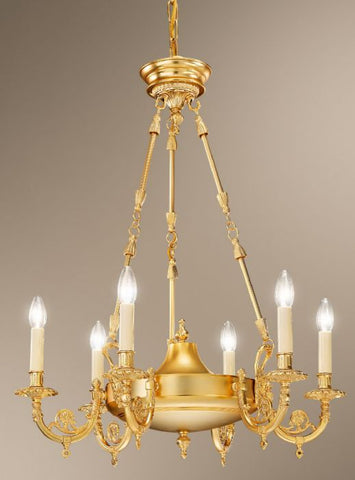 Chandelier in Satin Gold Finish