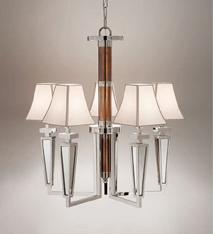 Modern Italian chandelier with choice of metal finish & shades