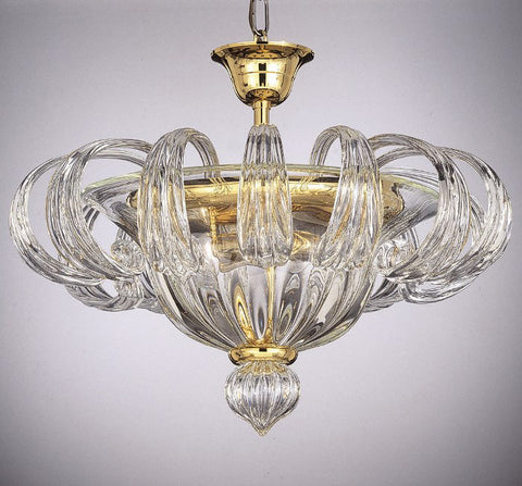 Golden Murano glass ceiling light