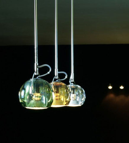 Beluga Colour D57 J05 lead crystal ceiling light from Fabbian