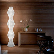 Vapor polycarbonate floor lamp Studio Italia Design