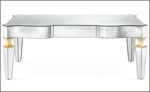 Classic art deco coffee table in Venetian mirror glass