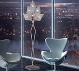 Italian clear spun-glass modern floor lamp