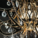 Hi-tech plastic chandelier with gold, silver or copper finish