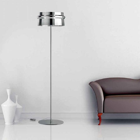 Aro award-winning chrome glass floor light from Leucos