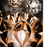 Hi-tech modern pendant with gold, copper or silver finishes