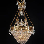 10 Light French Gold Bespoke Chandelier with Crystals