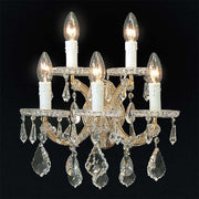 Swarovski Strass lead crystal 5 light wall chandelier