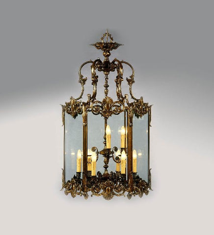 9 Light French Gold Lantern