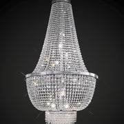 Breathtaking tall  Empire-style chandelier with glittering Asfour crystals