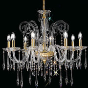 Impressive Italian chandelier in 6 sizes with sparkling Swarovski crystals