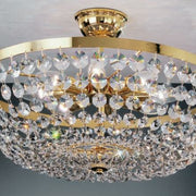 Flush fitting ceiling light with Swarovski Spectra crystals