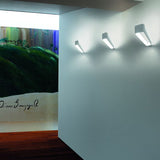 'Frame' white aluminium wall light by Kundalini