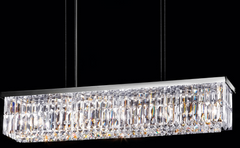 Modern Linear Crystal Ceiling Light