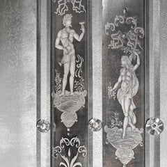 Two metre tall Venetian mirror with classical engravings
