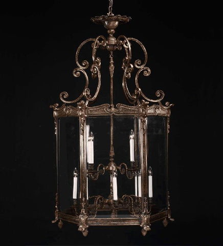 1.5 metre 12-light ornate brass lantern