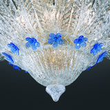 Italamp Italian glass ceiling light with flowers in 5 colours