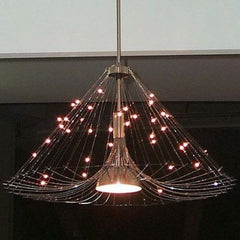 Modern customizable designer chandelier with feathers