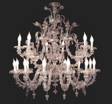 18 Light antique finish Murano Chandelier