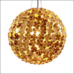 Ortenzia gold-plated or nickel ceiling globe light from Terzani