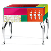 Fabulous bespoke colour Venetian mirror side table