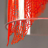 Frame conical silver coral leaf pendant light by Terzani