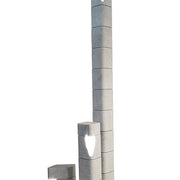 220 cm grey Carrara marble LED exterior bollard light