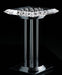Chrome and optical crystal floor light from Italy