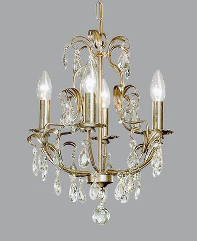 Gold Metal Chandelier enhanced with Swarovski Elements