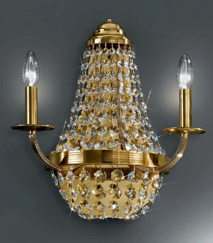 Gold-plated Empire-style wall light