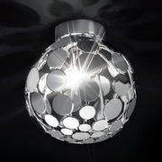 Small gold or chrome disc ceiling lightPatrizia Volpato Sfera me