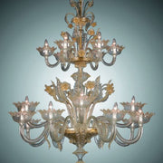 Large Murano glass foyer chandelier