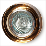 Round amber glass recessed ceiling light