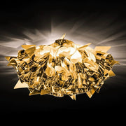 Veli gold silver or copper flush wall or ceiling lamp from Slamp
