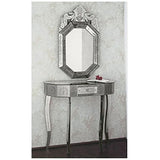 Hand-engraved Venetian mirrored console