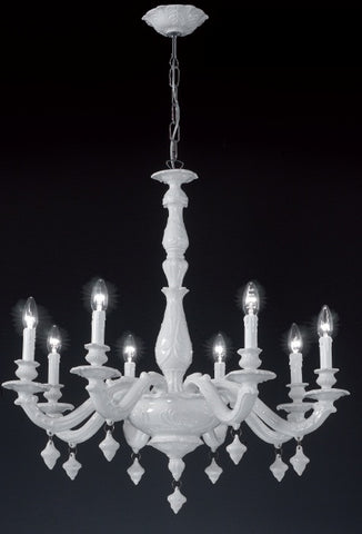 Tintoretto porcelain chandelier from Bassano - choice of colours