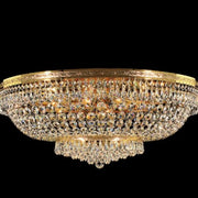 Gold-plated Swarovski Spectra crystal ceiling light