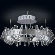 Eos methacrylate & chrome ceiling light from Patrizia Volpato