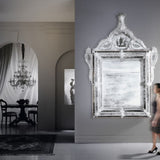 Huge baroque style Venetian mirror with Murano glass