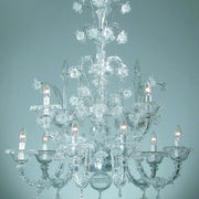 Rezzonico style flower chandelier in a large range of colours