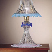 Pink, blue and clear Murano glass crystal table lamp