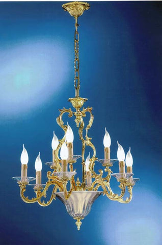 Louis XV French style Murano 9 light chandelier