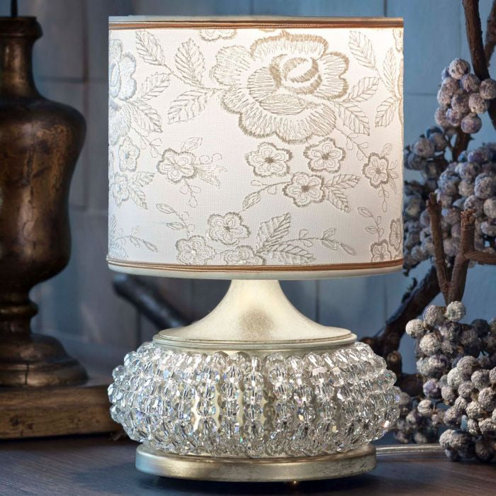 White Lace Metal Table Lamp Large By