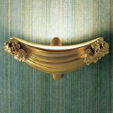 Classic Italian wall uplighter with gold-plated cherubs