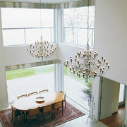 2097 30/ 50 light chrome or brass modern chandelier from Flos