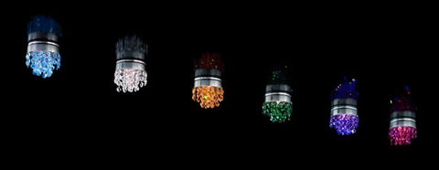 Chrome ceiling light with choice of coloured Swarovski crystals