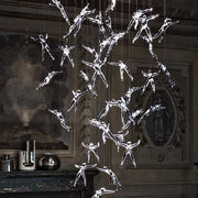 Angel Falls ceiling light by Terzani with 36 crystal angels