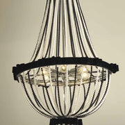 Black and or white crystal chandelier with velvet bows