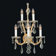 Maria Theresa Strass lead crystal 5 light wall chandelier