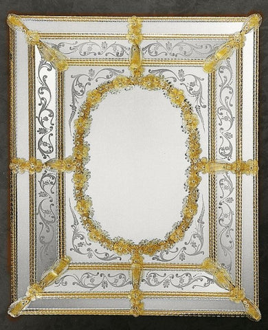 Authentic hand-crafted Venetian baroque style mirror